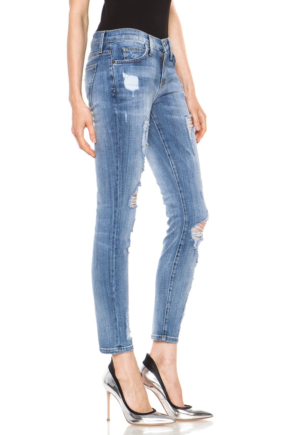 Image 3 of Current/Elliott The Stiletto Jean in Shredded