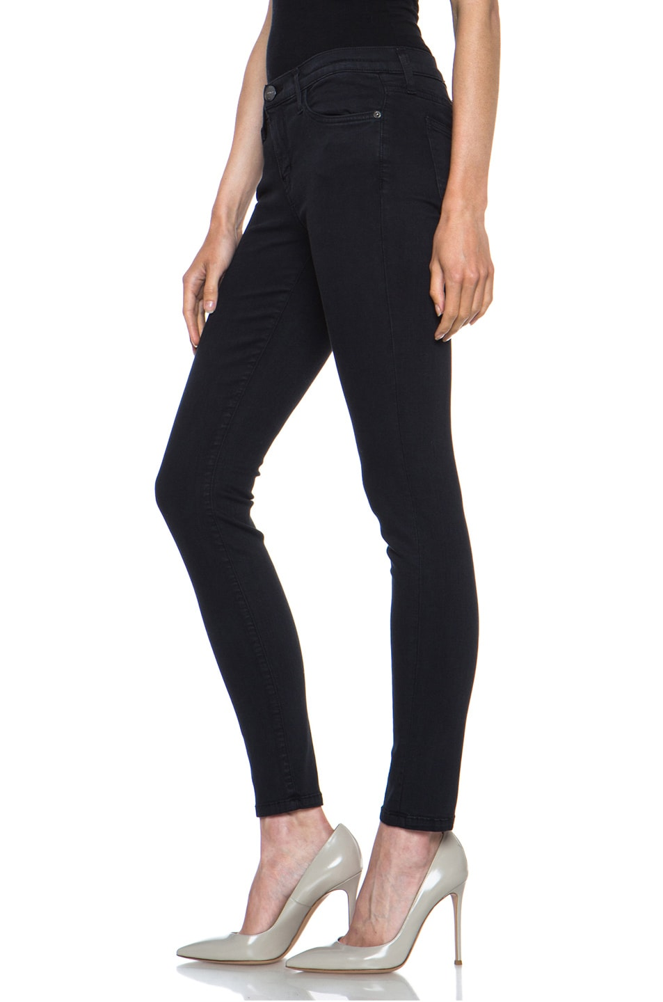 Image 2 of Current/Elliott Ankle Skinny in Washed Black