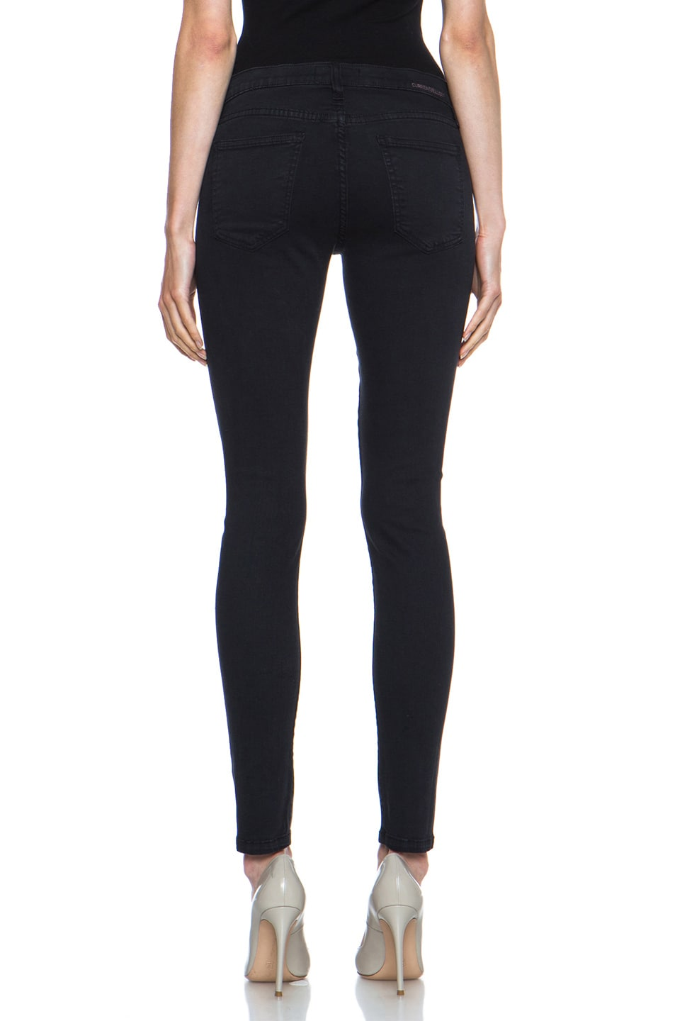 Image 4 of Current/Elliott Ankle Skinny in Washed Black