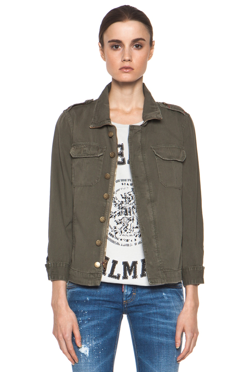 Image 1 of Current/Elliott The Battalion Jacket in Army Repair