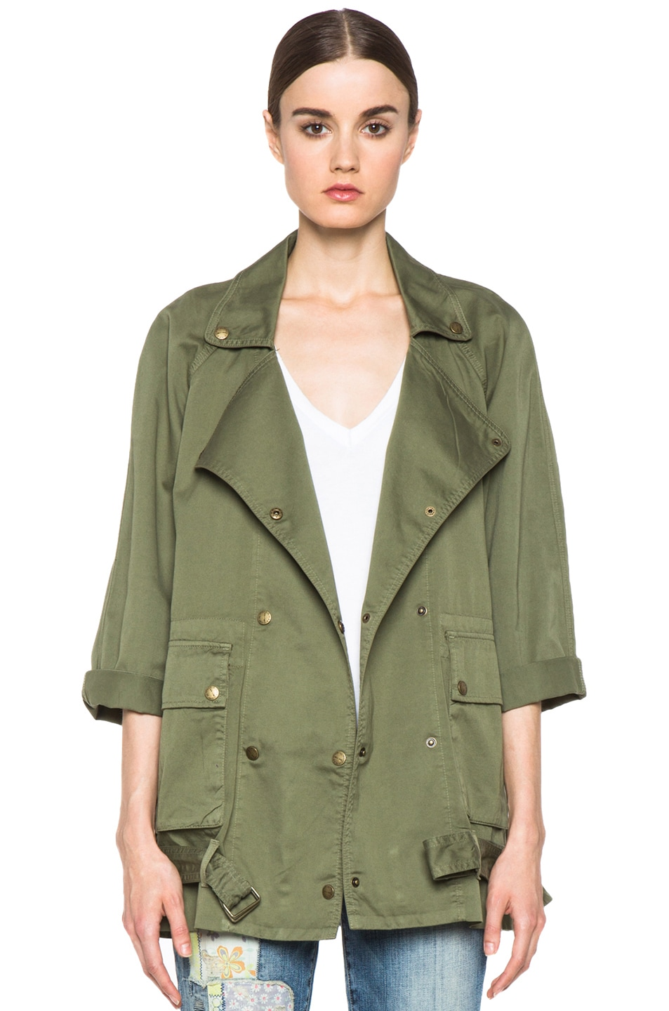 Image 1 of Current/Elliott The Infantry Cotton Jacket in Army