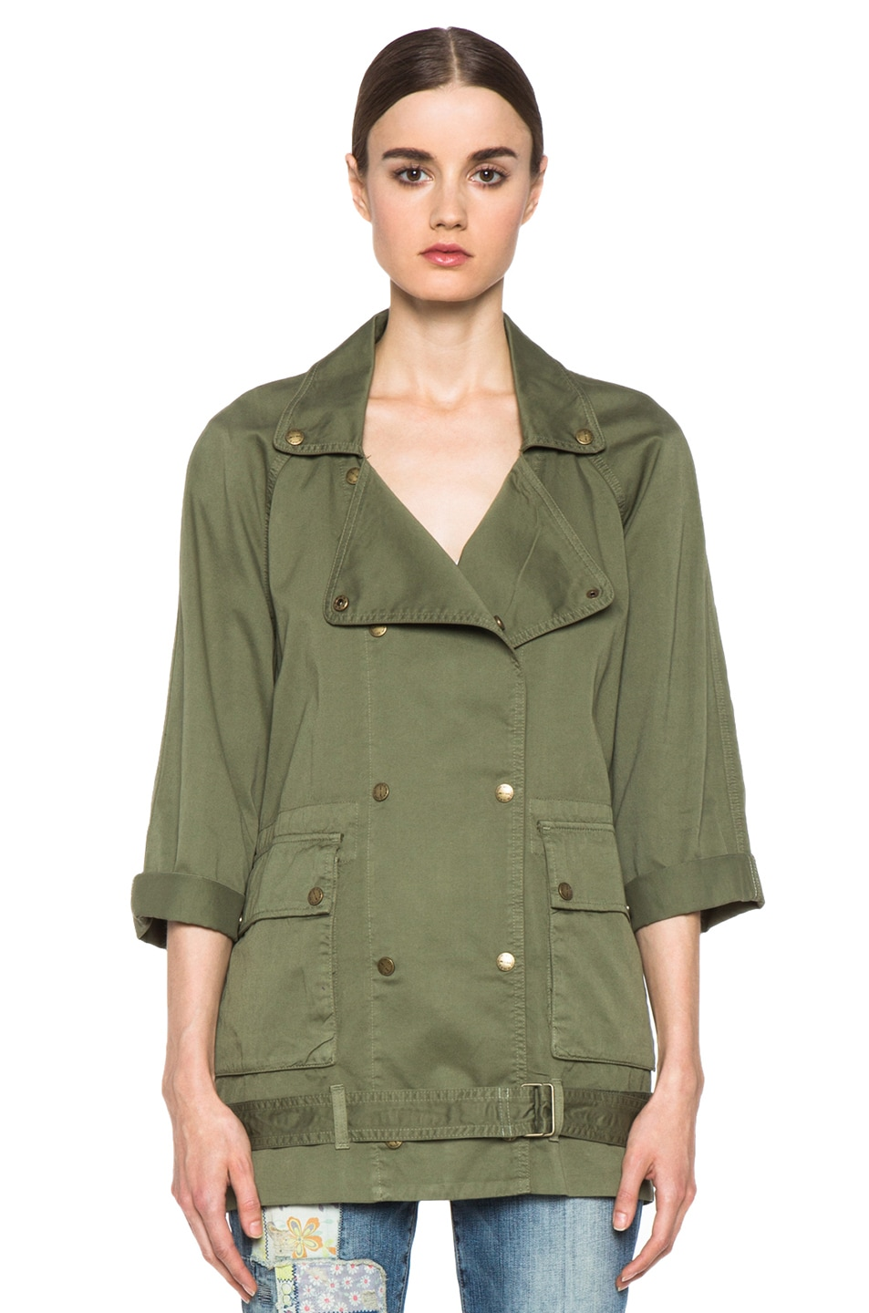 Image 2 of Current/Elliott The Infantry Cotton Jacket in Army