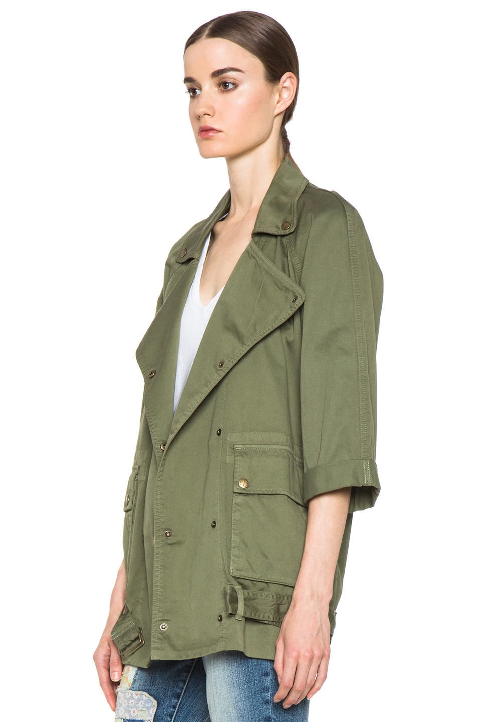 Image 3 of Current/Elliott The Infantry Cotton Jacket in Army