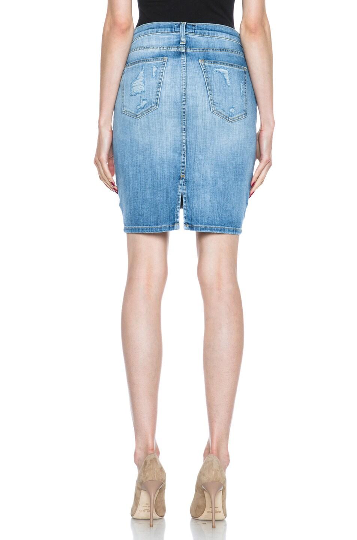 Image 4 of Current/Elliott The Stiletto Pencil Skirt in Shredded