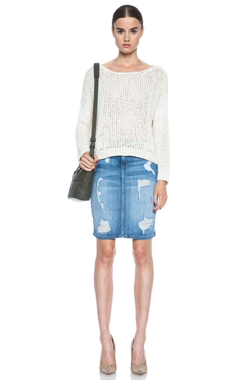 Image 5 of Current/Elliott The Stiletto Pencil Skirt in Shredded