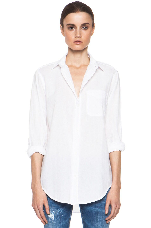 Image 1 of Current/Elliott The Prep School Cotton Shirt in Sugar