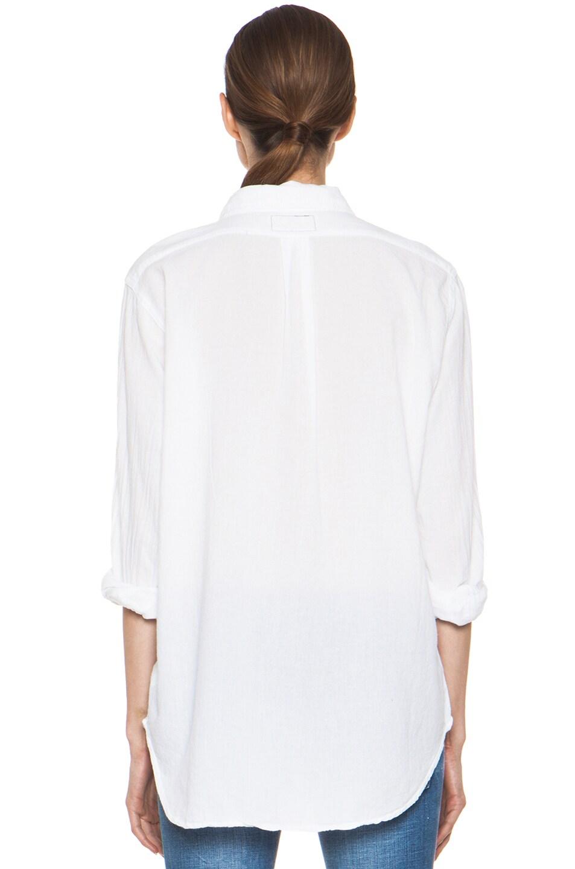 Image 4 of Current/Elliott The Prep School Cotton Shirt in Sugar