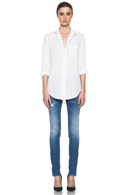 Image 5 of Current/Elliott The Prep School Cotton Shirt in Sugar