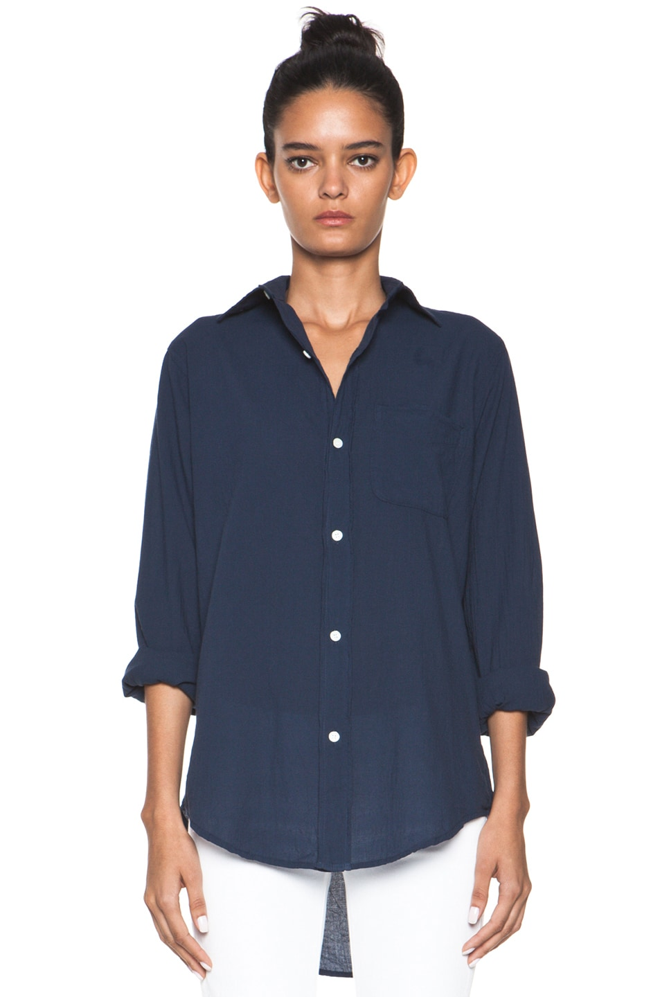 Image 1 of Current/Elliott The Prep School Shirt in Indigo