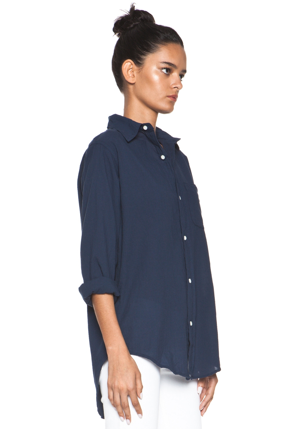 Image 3 of Current/Elliott The Prep School Shirt in Indigo