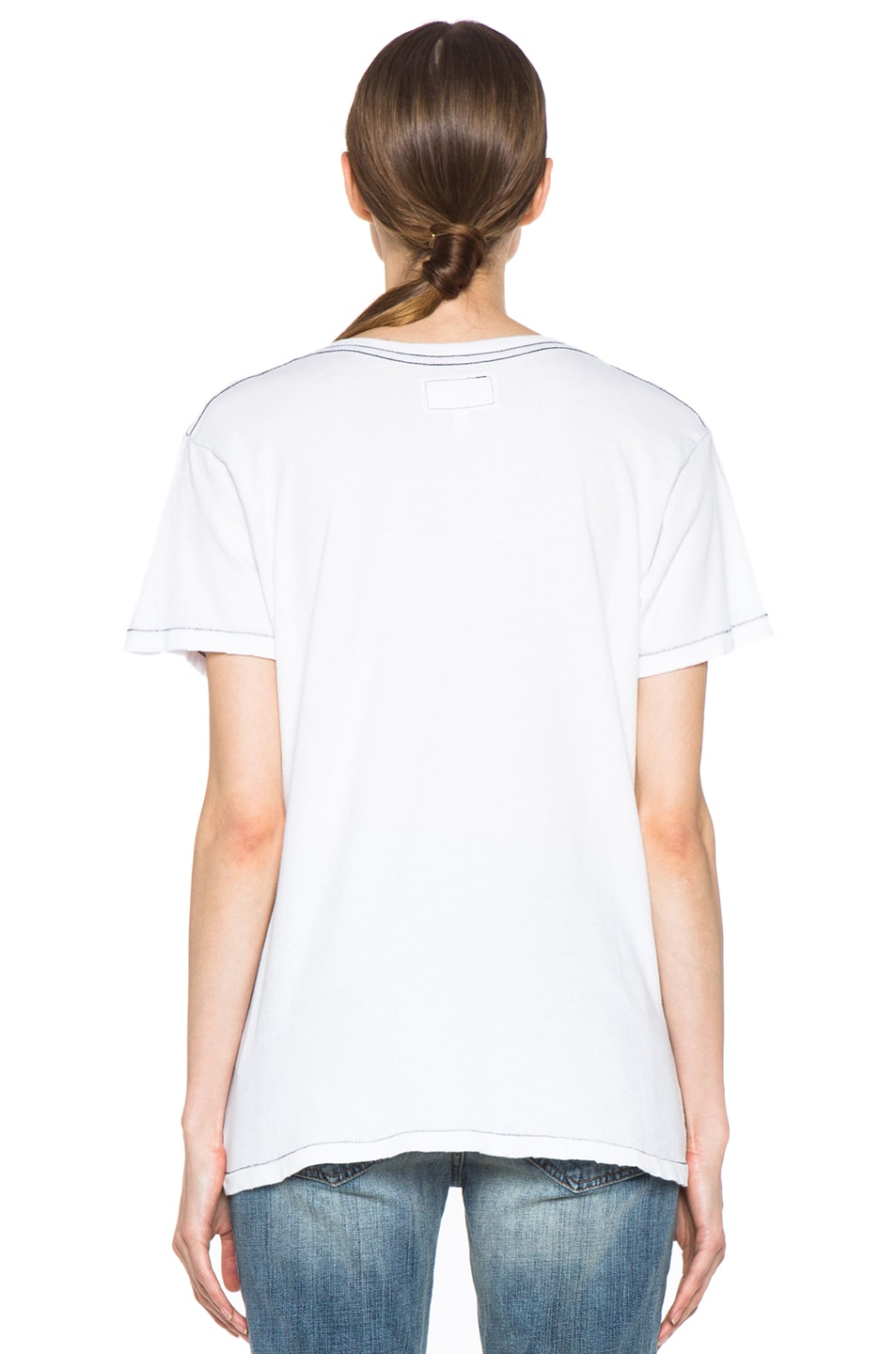 Image 5 of Current/Elliott The V Neck Cotton Tee in Sugar