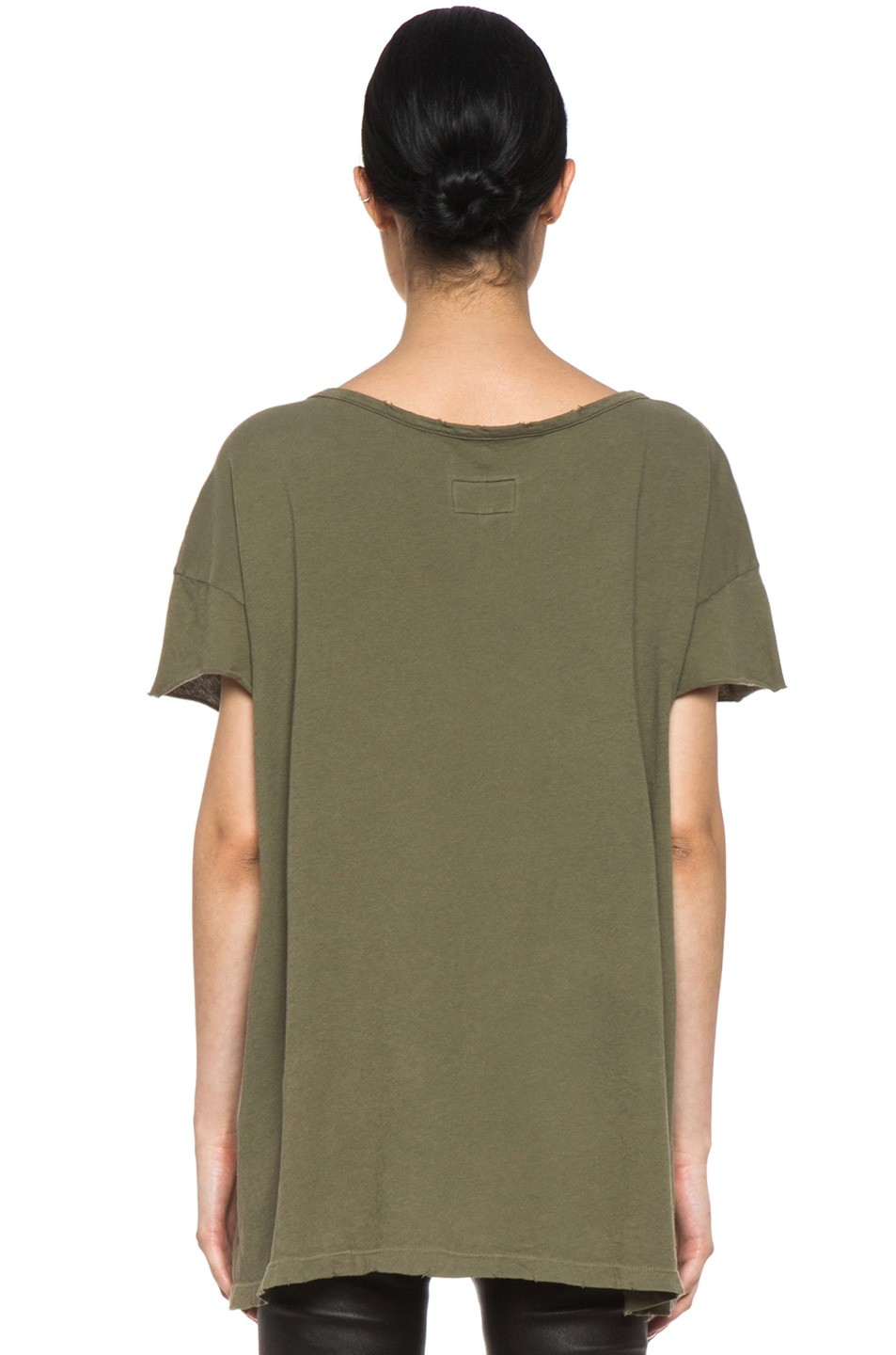 Image 4 of Current/Elliott The Oversize Tee in Light Army