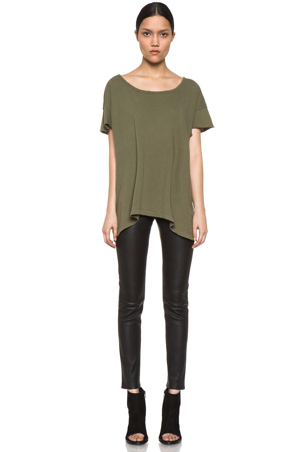 Image 5 of Current/Elliott The Oversize Tee in Light Army