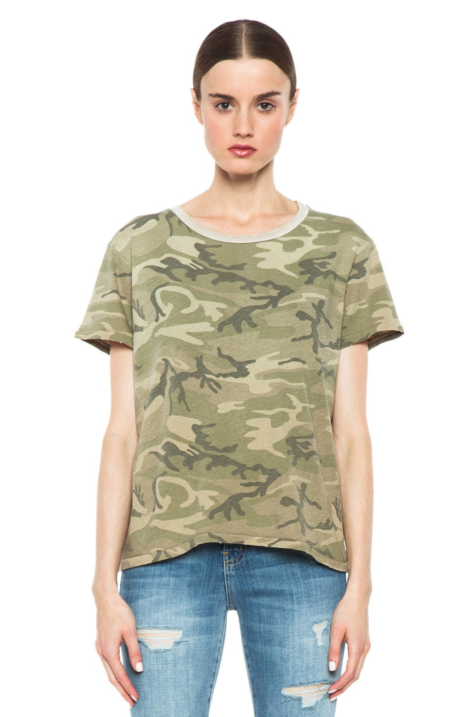 Image 1 of Current/Elliott The Freshman Tee in Army Camo