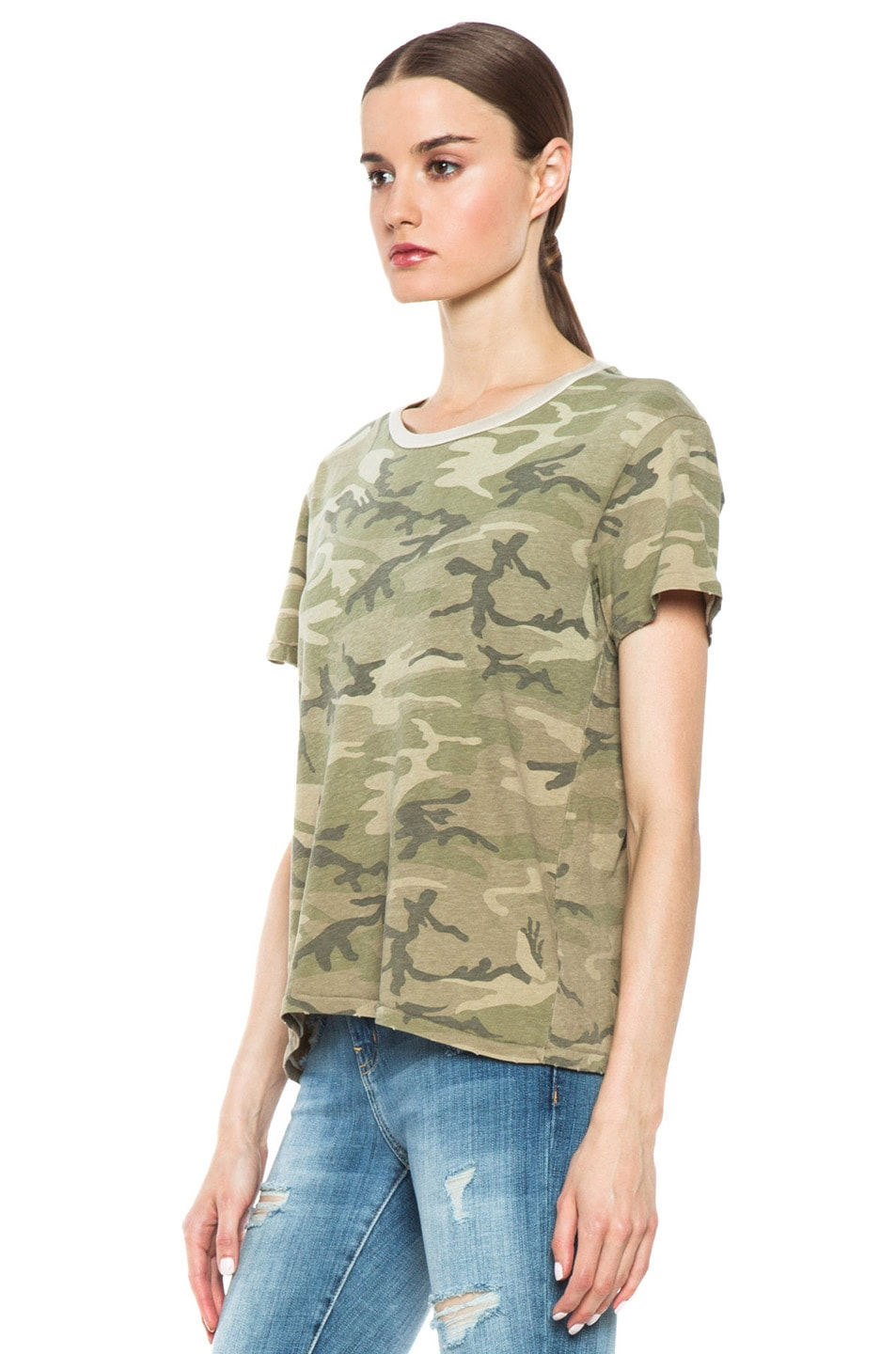 Image 2 of Current/Elliott The Freshman Tee in Army Camo