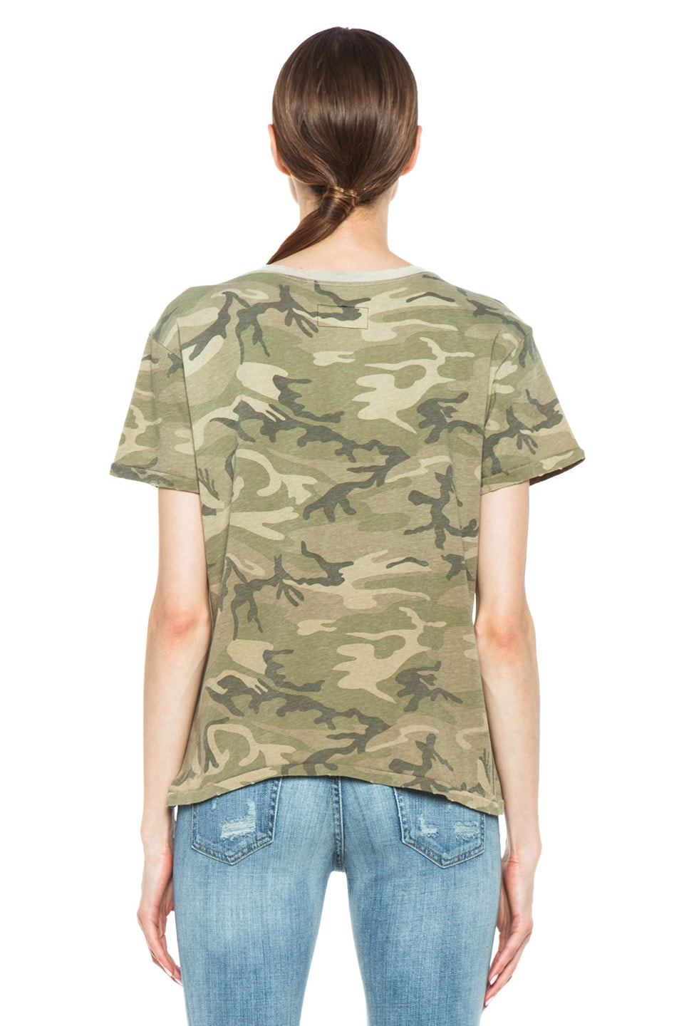 Image 4 of Current/Elliott The Freshman Tee in Army Camo
