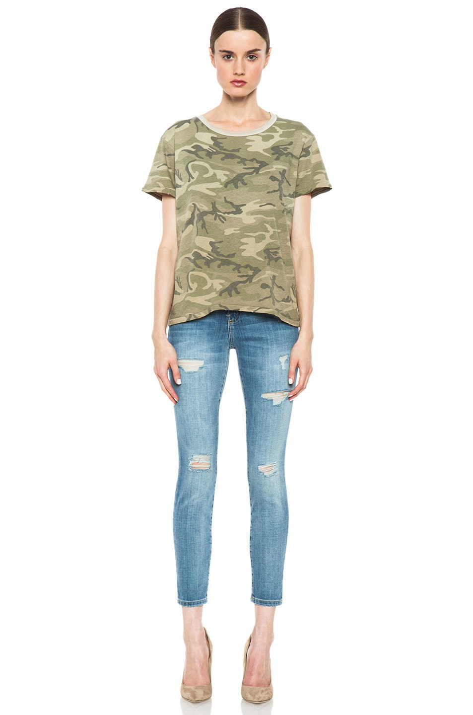 Image 5 of Current/Elliott The Freshman Tee in Army Camo