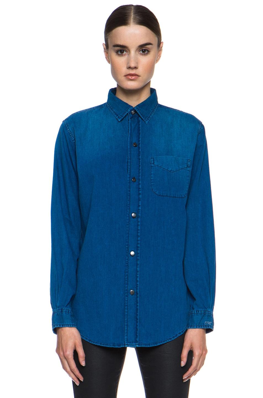 Image 1 of Current/Elliott Prep School Jean Shirt in Lagoon