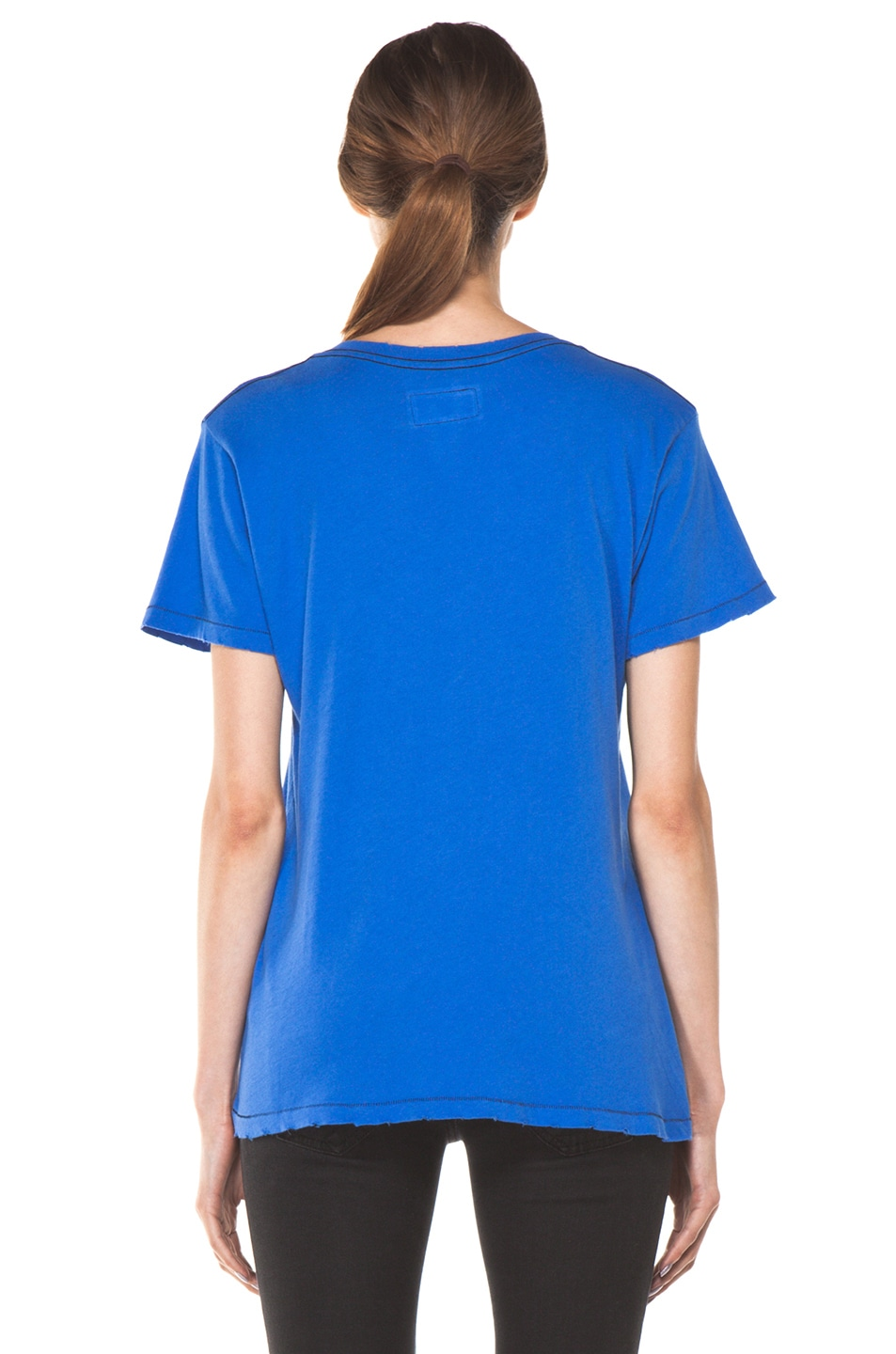 Image 4 of Current/Elliott The V Neck Tee in Cobalt