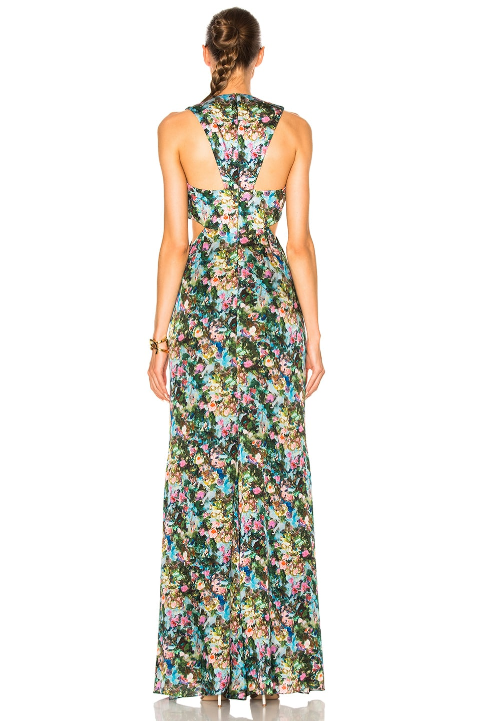 Image 4 of Cushnie et Ochs Christina Cowl Draped Gown in Floral Print