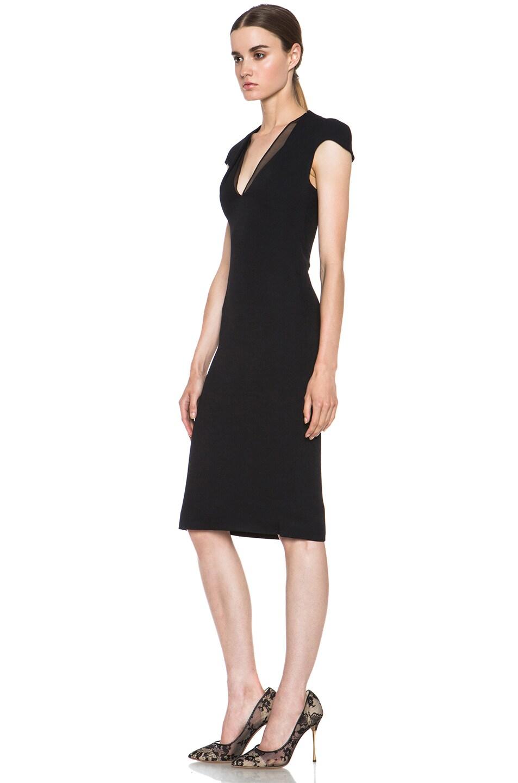Image 2 of Cushnie et Ochs Acetate-Blend Dress in Black