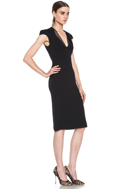 Image 3 of Cushnie et Ochs Acetate-Blend Dress in Black