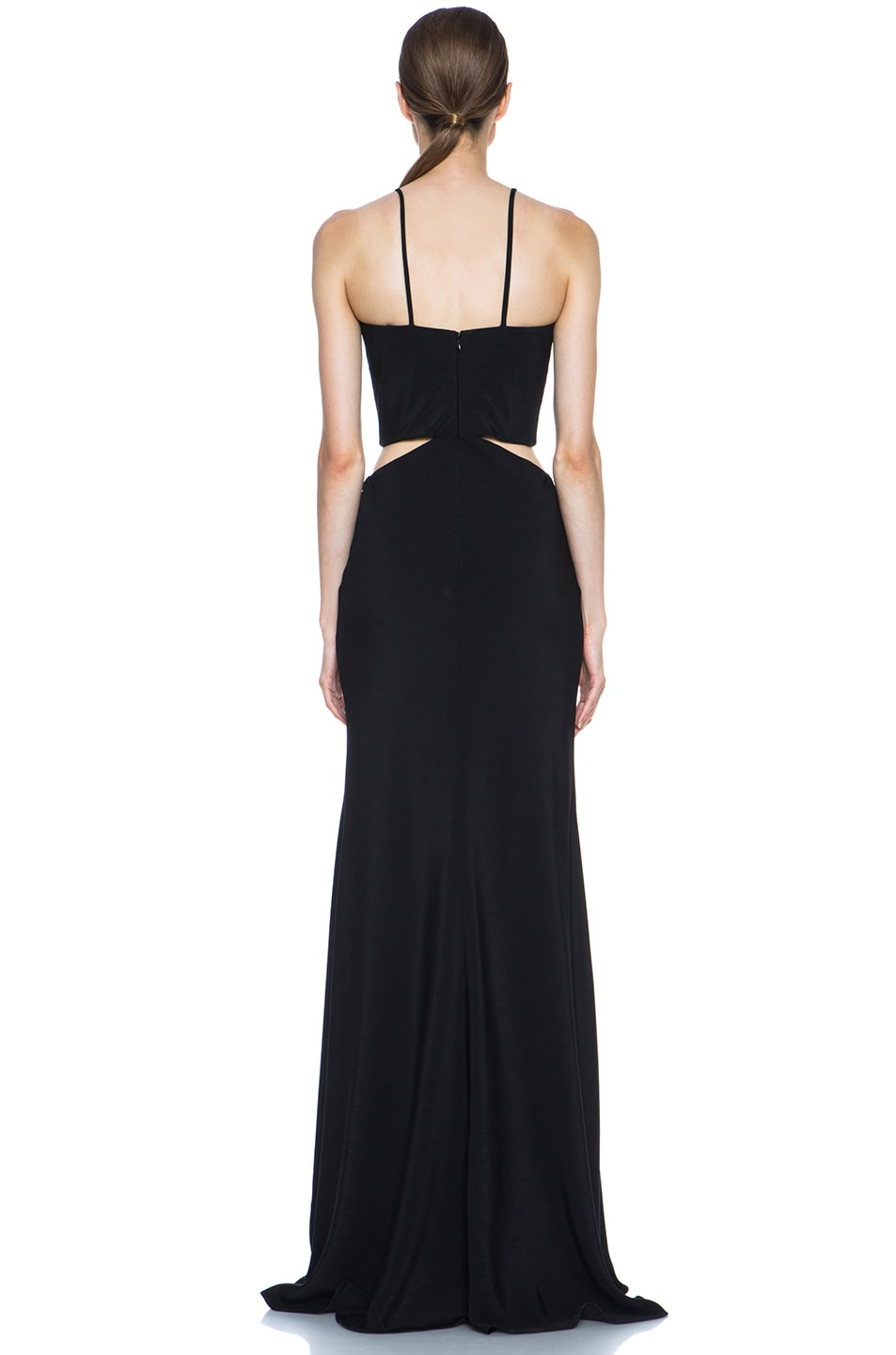 Image 4 of Cushnie et Ochs Silk Crepe Cut Out Dress in Black