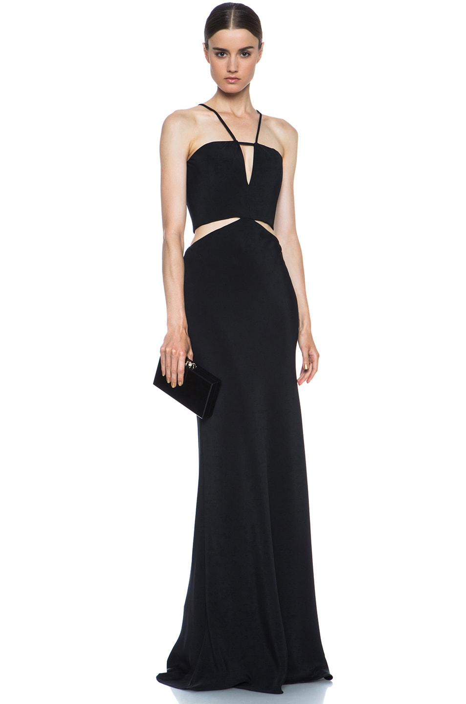Image 5 of Cushnie et Ochs Silk Crepe Cut Out Dress in Black