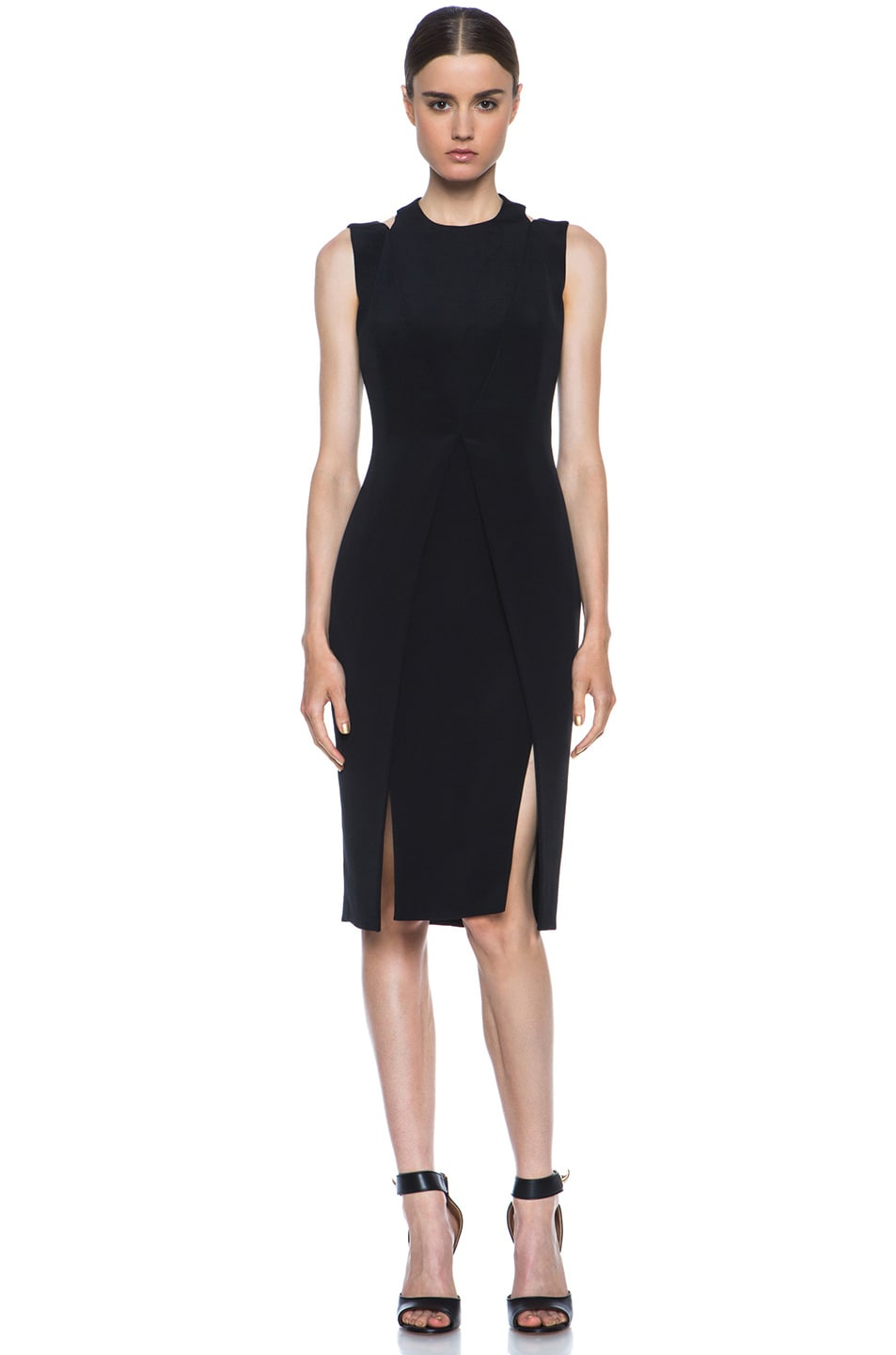 Image 1 of Cushnie et Ochs Silk Crepe Dress in Black