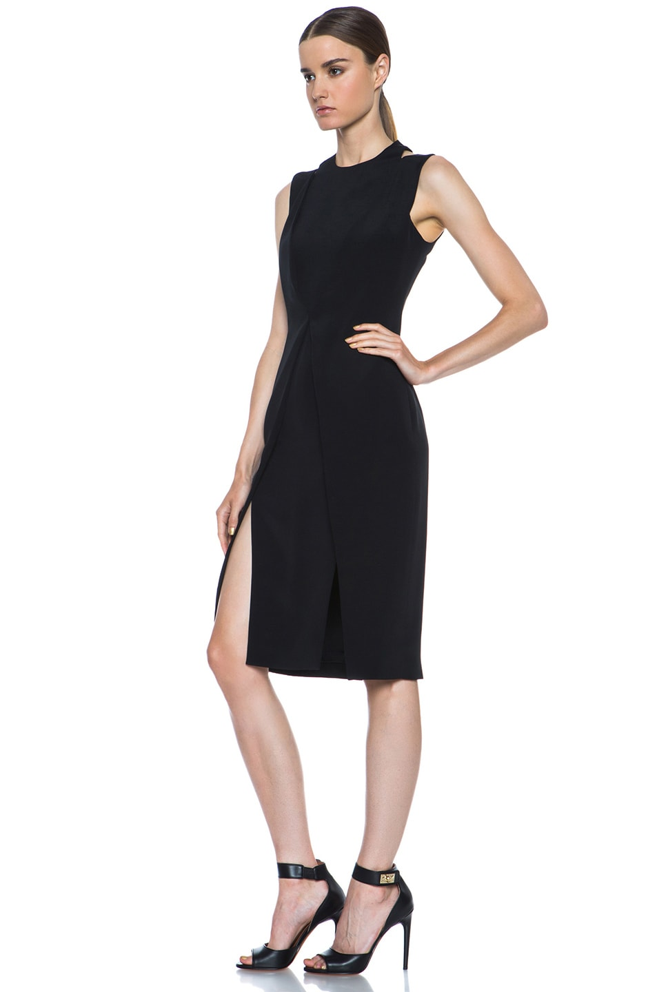 Image 2 of Cushnie et Ochs Silk Crepe Dress in Black
