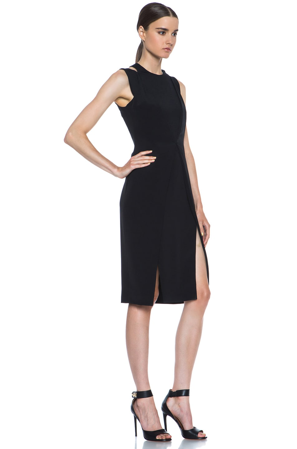 Image 3 of Cushnie et Ochs Silk Crepe Dress in Black