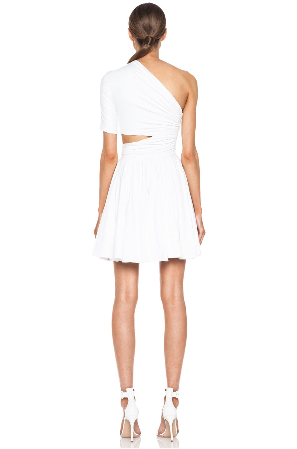 Image 4 of Cushnie et Ochs One Shoulder Cut Out Viscose-Blend Dress in White