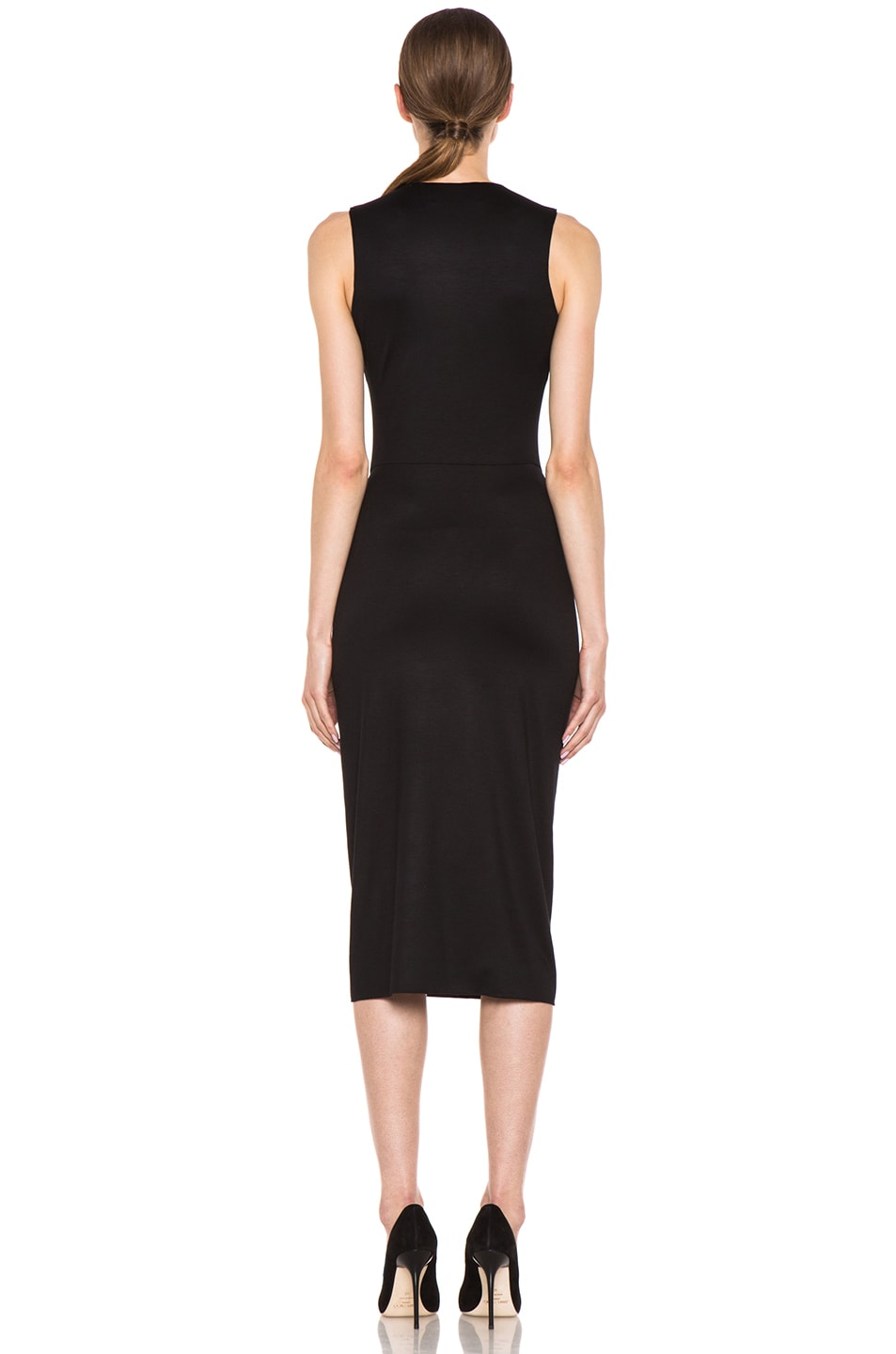 Image 4 of Cushnie et Ochs Viscose Jersey Sarong Dress in Black