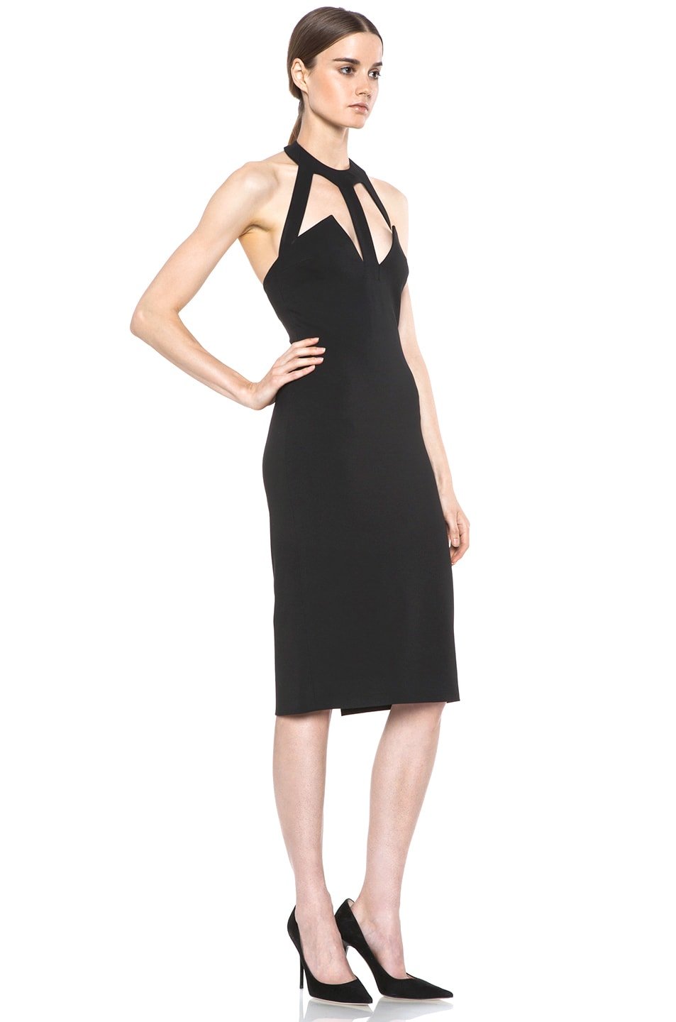 Image 3 of Cushnie et Ochs Oscar Jersey Dress in Black