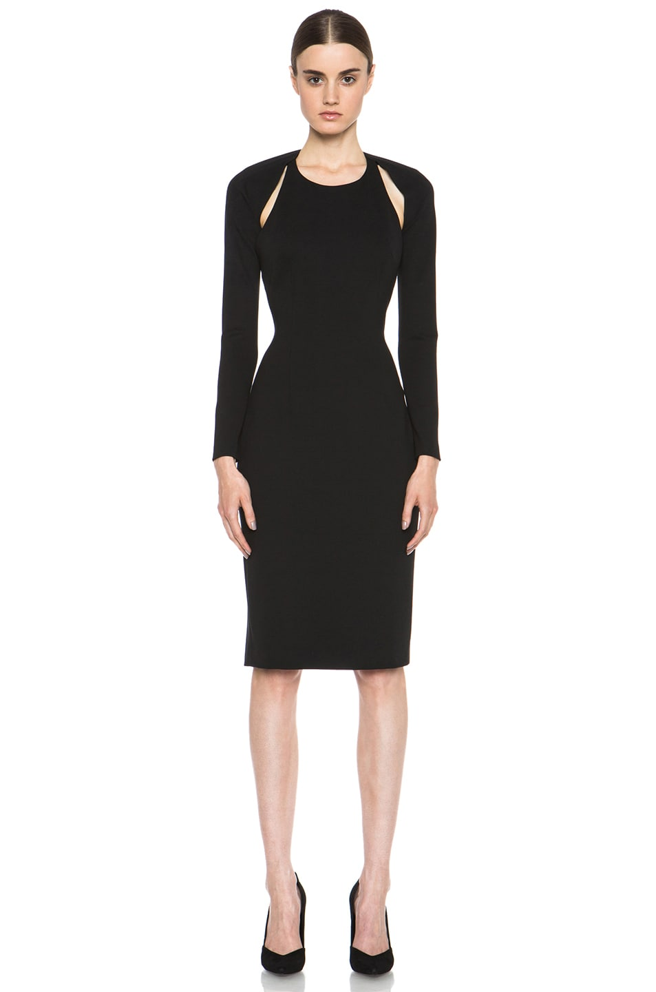 Image 1 of Cushnie et Ochs Oscar Jersey Dress in Black