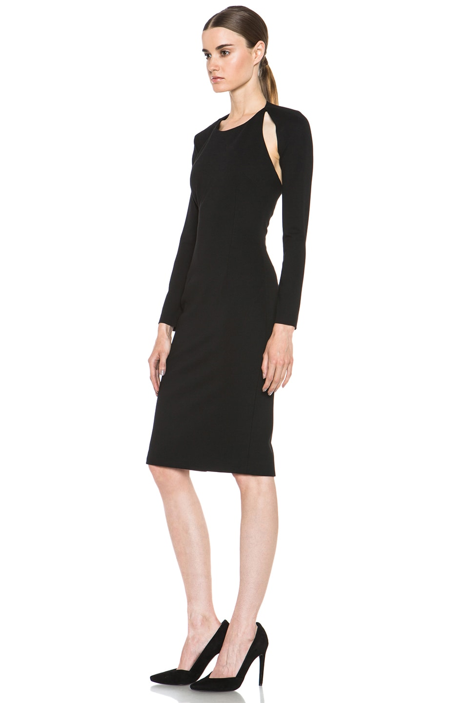 Image 2 of Cushnie et Ochs Oscar Jersey Dress in Black