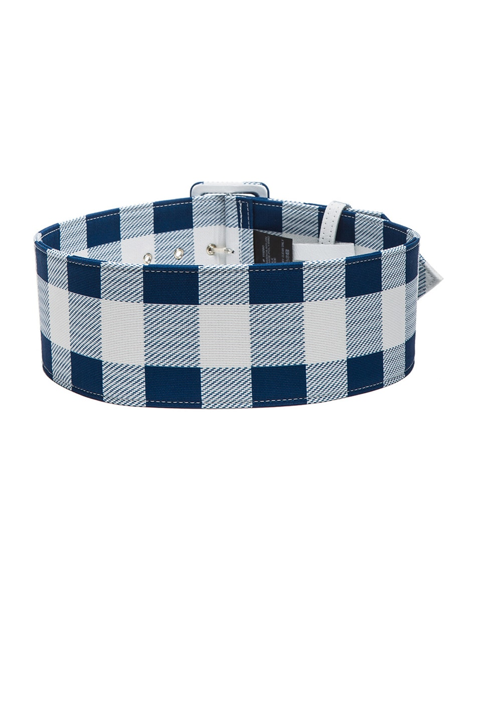 Image 2 of Derek Lam Plaid Faille Wide Belt in Lagoon