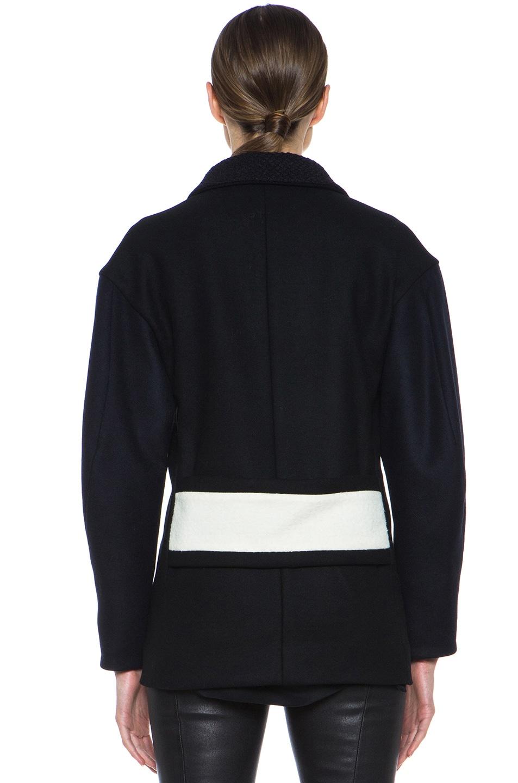Image 5 of Derek Lam Wool Felt Coat in Navy & White
