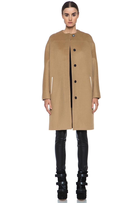 图象1 Derek Lam Doubleface Wool Drop Shoulder Coat – 驼色