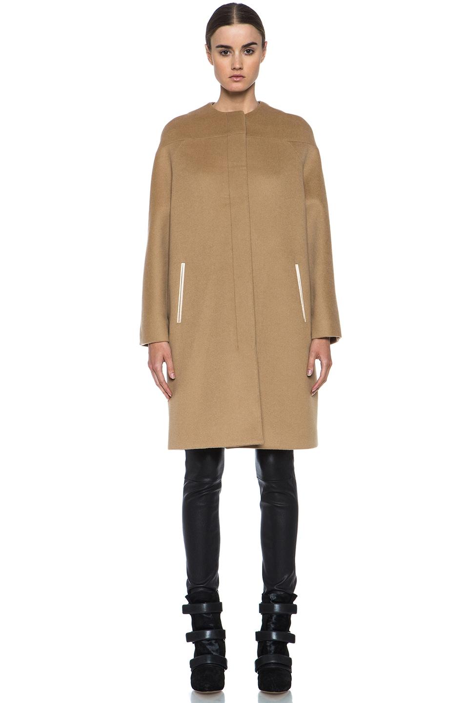 Image 2 of Derek Lam Doubleface Wool Drop Shoulder Coat in Camel
