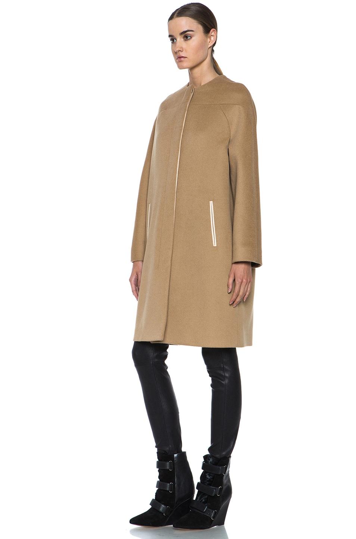 Image 3 of Derek Lam Doubleface Wool Drop Shoulder Coat in Camel