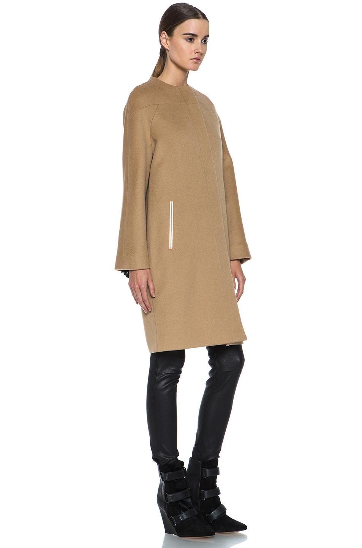 Image 4 of Derek Lam Doubleface Wool Drop Shoulder Coat in Camel