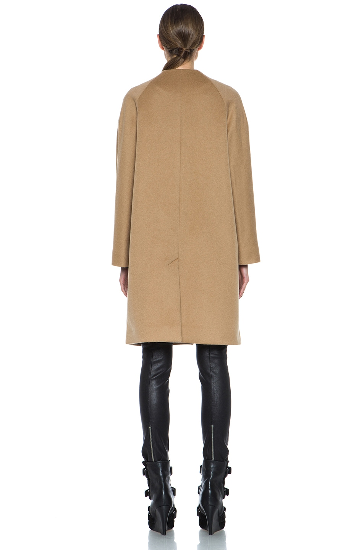 Image 5 of Derek Lam Doubleface Wool Drop Shoulder Coat in Camel