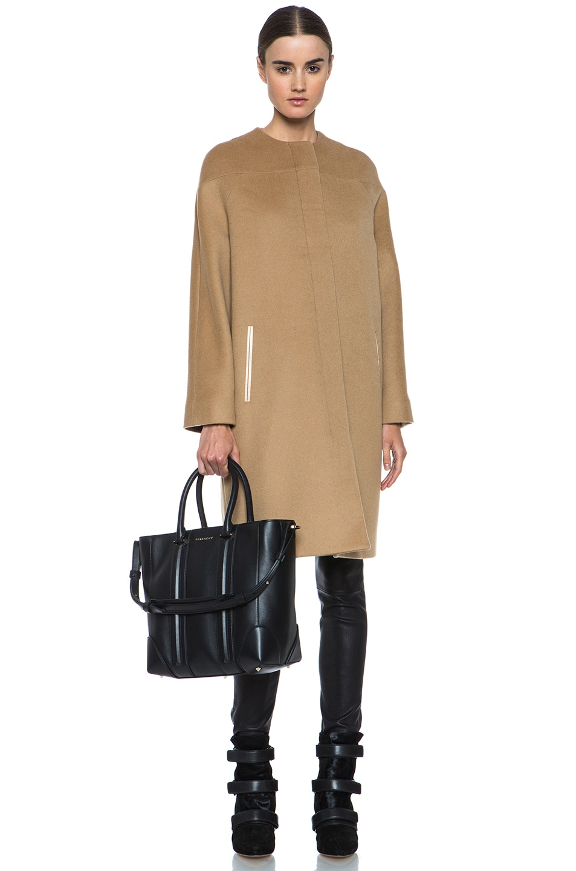 Image 6 of Derek Lam Doubleface Wool Drop Shoulder Coat in Camel