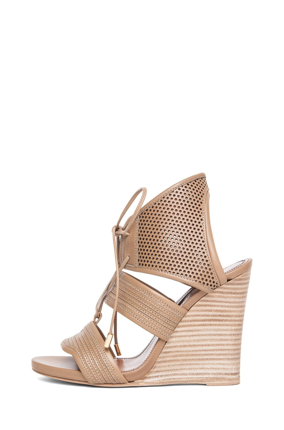 Image 1 of Derek Lam Brooklyn Sandal Wedge in Sahara