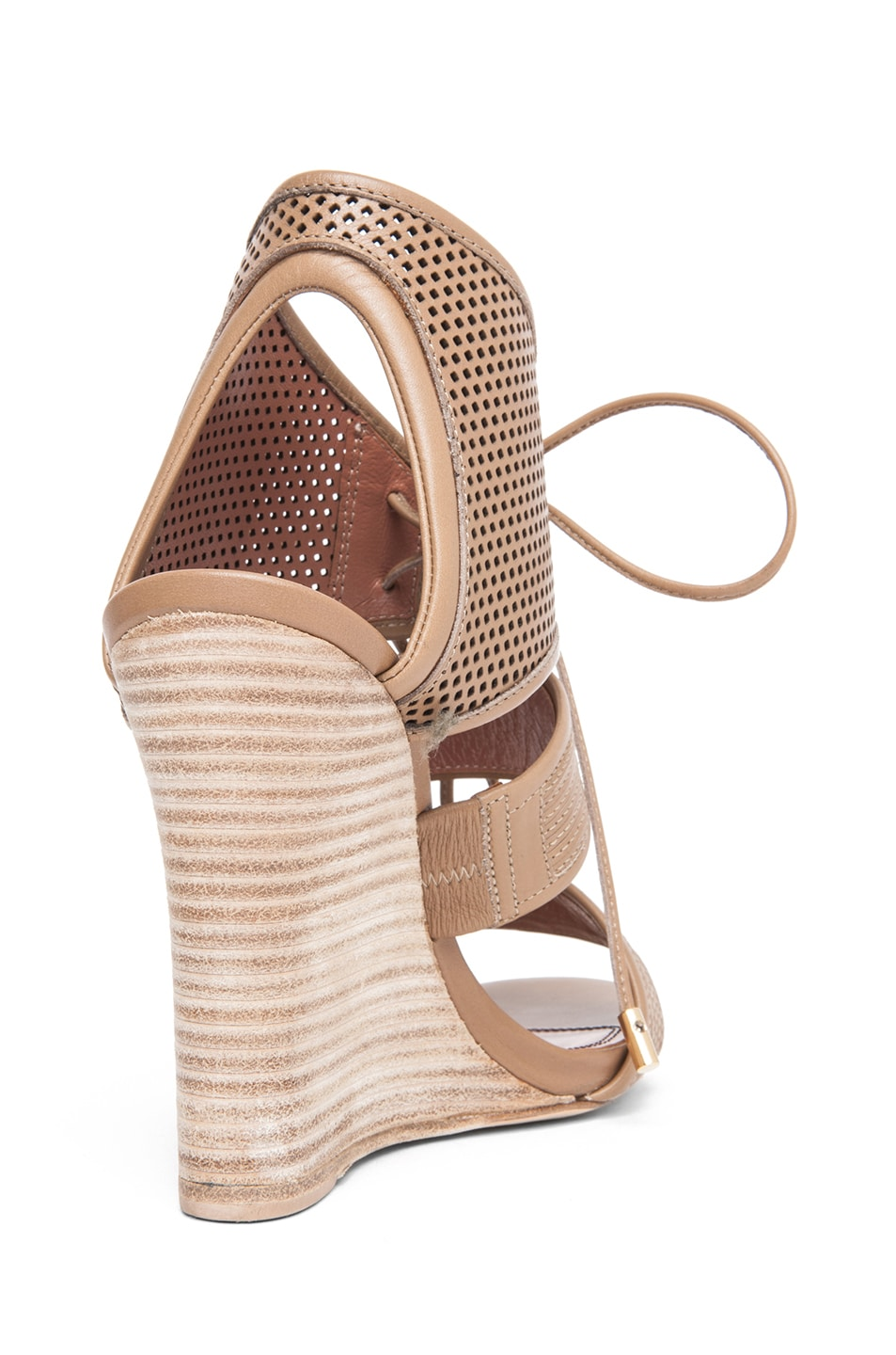 Image 3 of Derek Lam Brooklyn Sandal Wedge in Sahara