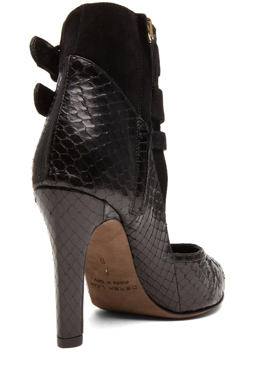 Image 3 of Derek Lam Paloma Whip Snake Heels in Black Whips & Suede