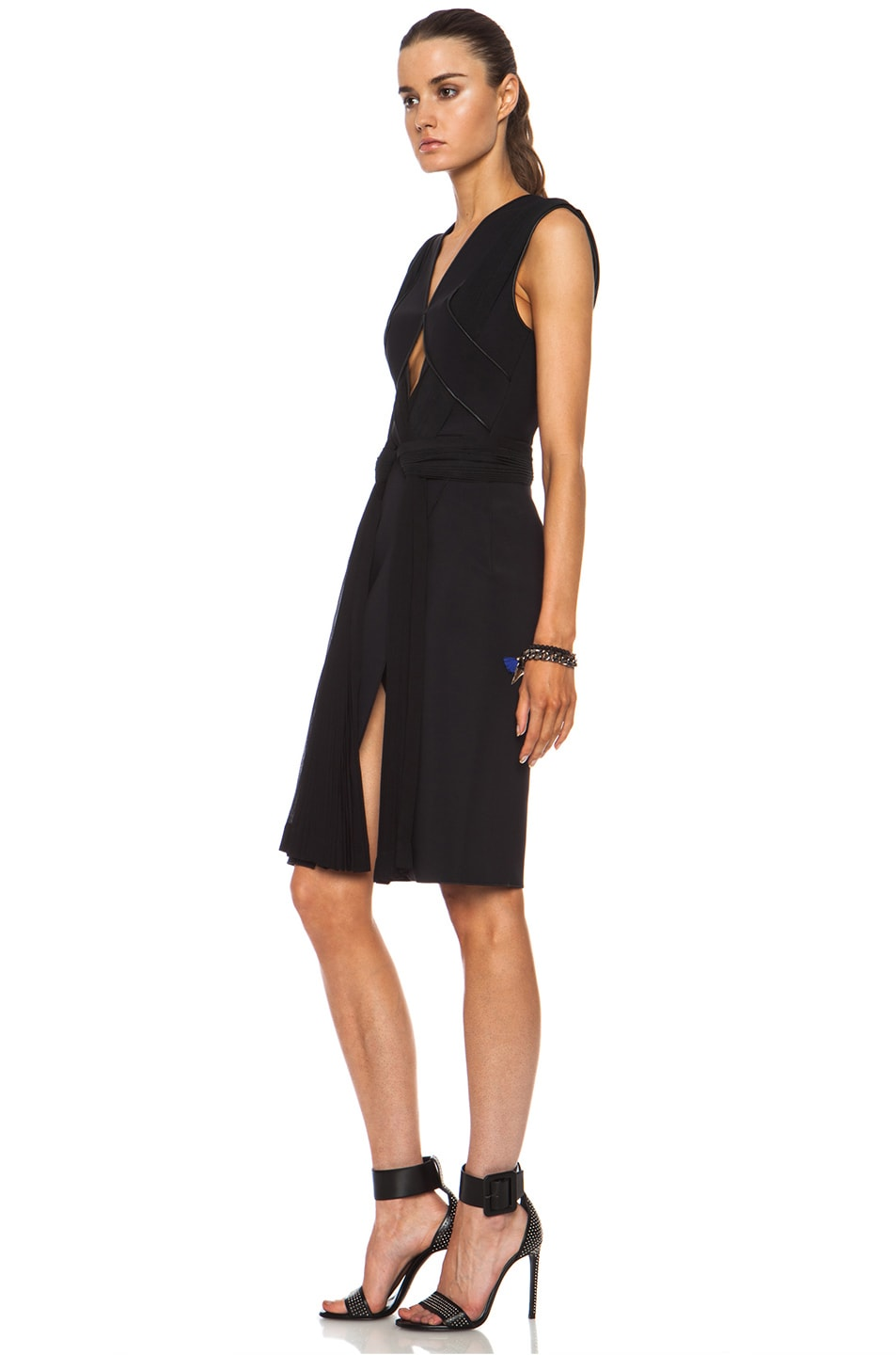Image 2 of Dion Lee Neo Poly Pleat Shift Dress in Black