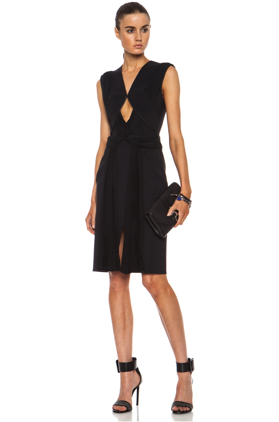 Image 5 of Dion Lee Neo Poly Pleat Shift Dress in Black