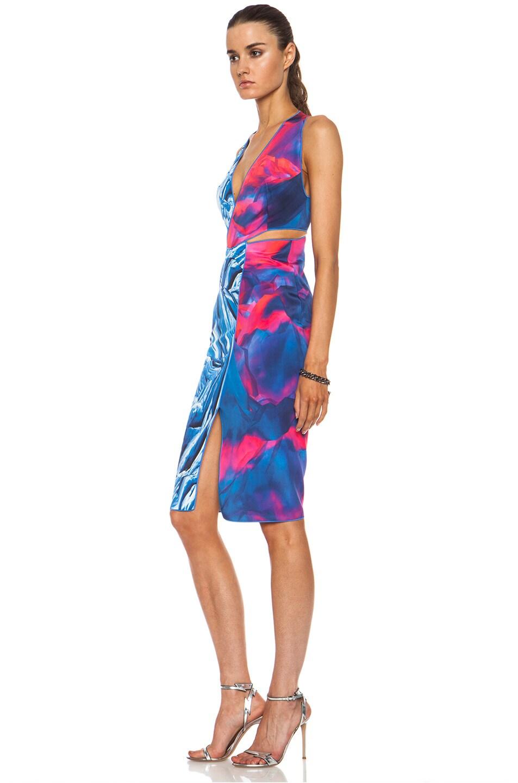 Image 2 of Dion Lee Reverse Terrain Silk Locked Dress in Frozen Clouds
